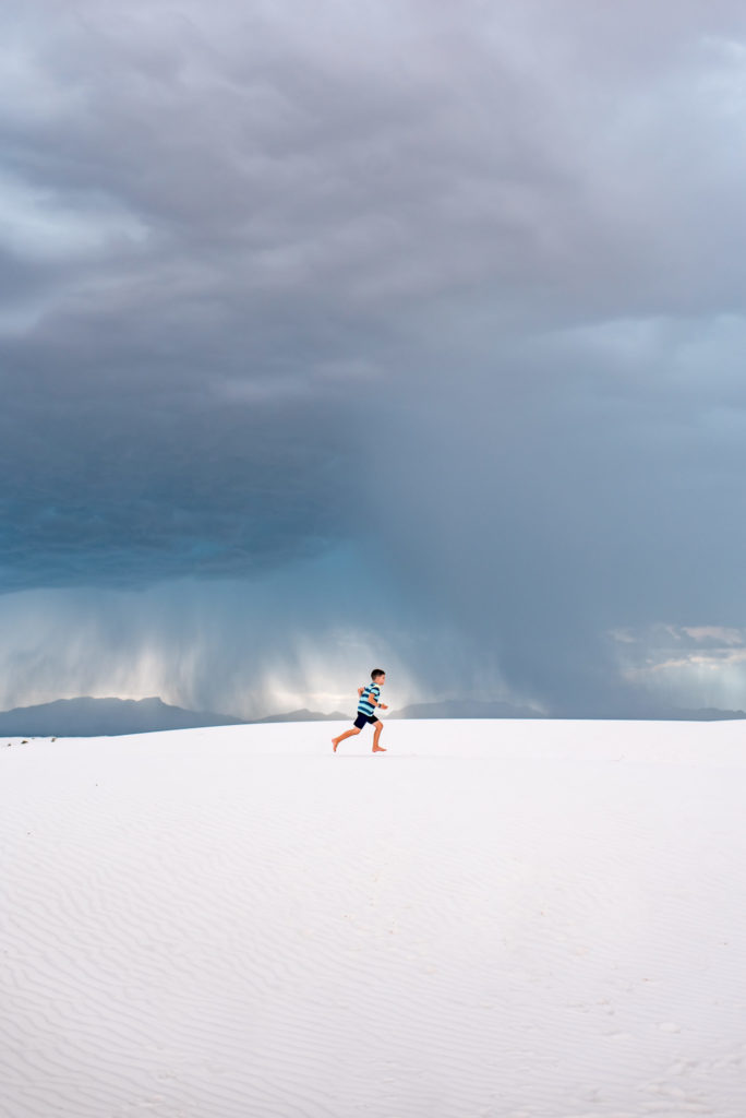 Exploring White Sands National Park, New Mexico while a monsoon approaches by Relics of Rainbows Photo