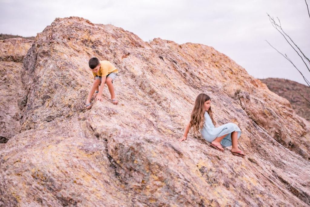 Rock Climbing, Saguaro National Park, Arizona by Relics of Rainbows Photo